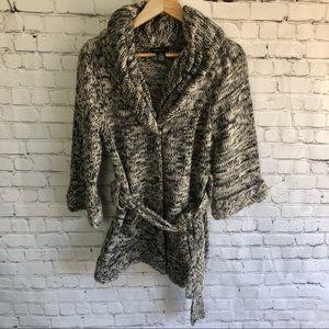 BCBG Front Tie Chunky Sweater Size Medium